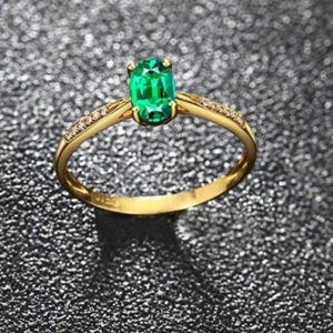 Emerald Ring, 925 sterling silver ring,Luxury Ring/Band, oval Cut 6 mm x 4 mm  Ring,Emerald Engagement ring, may birthstone,Women gift ring | Natural genuine Array rings, simple unique alternative gemstone engagement rings. #rings #jewelry #bridal #wedding #jewelryaccessories #engagementrings #weddingideas #affiliate #ad
