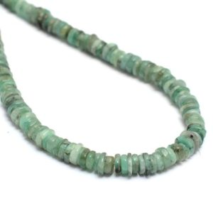 Shop Emerald Rondelle Beads! Natural Emerald 5mm Smooth Wheel Rondelle Beads   8inch Strand   Emerald Precious Gemstone Heishi / Coin Spacer Loose Beads   Natural genuine rondelle Emerald beads for beading and jewelry making.  #jewelry #beads #beadedjewelry #diyjewelry #jewelrymaking #beadstore #beading #affiliate #ad