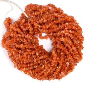 """Fine Quality 34"""" Strand, Natural Carnelian Uncut Chips Nugget Raw Gemstone Beads,Orange Carnelian Smooth Rough Beads,Carnelian,Uncut Chips 