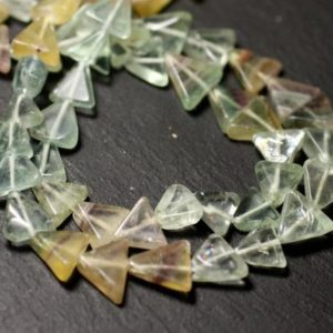 Shop Fluorite Bead Shapes! 10pc – stone beads – Fluorite 6-10mm – 8741140012189 multicolored Triangles | Natural genuine other-shape Fluorite beads for beading and jewelry making.  #jewelry #beads #beadedjewelry #diyjewelry #jewelrymaking #beadstore #beading #affiliate #ad