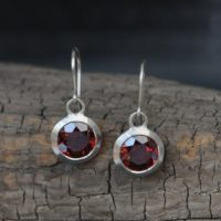 18k Gold Red Garnet Dangle Earrings – Red Gemstone Drop Earrings | Natural genuine Gemstone jewelry. Buy crystal jewelry, handmade handcrafted artisan jewelry for women.  Unique handmade gift ideas. #jewelry #beadedjewelry #beadedjewelry #gift #shopping #handmadejewelry #fashion #style #product #jewelry #affiliate #ad