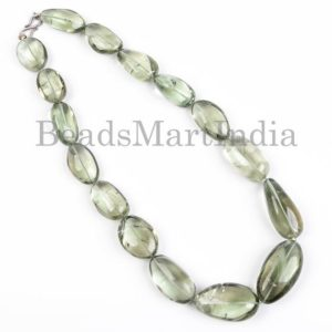 Shop Green Amethyst Beads! Green Amethyst Smooth Nugget Shape Beads Necklace, Amethyst Plain Nuggets, Green Amethyst Smooth Beads, Green Amethyst Necklace   Natural genuine chip Green Amethyst beads for beading and jewelry making.  #jewelry #beads #beadedjewelry #diyjewelry #jewelrymaking #beadstore #beading #affiliate #ad