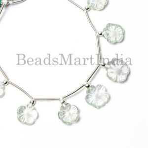 Green Amethyst Flower Carving Beads, Amethyst Carving Beads, Amethyst Beads, Amethyst Fancy Beads, Green Amethyst Carving beads | Natural genuine other-shape Gemstone beads for beading and jewelry making.  #jewelry #beads #beadedjewelry #diyjewelry #jewelrymaking #beadstore #beading #affiliate #ad