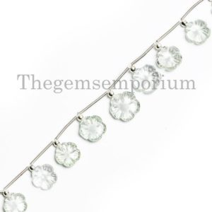 Green Amethyst Flower Carving Beads, Green Amethyst  Fancy Beads, Carving Beads, Green Amethyst Beads, Green Amethyst  Flower Beads | Natural genuine other-shape Gemstone beads for beading and jewelry making.  #jewelry #beads #beadedjewelry #diyjewelry #jewelrymaking #beadstore #beading #affiliate #ad