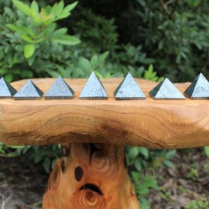 """Shop Hematite Stones & Crystals! Hematite Crystal Pyramid, Medium 1"""" – 1.25"""" (Crystal Pyramid, Gemstone Pyramid, Stone Pyramid, Carved Pyramid) 
