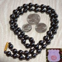 Healing Hematite Magnetic Necklace Mala-for Positive Energy, Magnetism, Self Esteem, Will Power And Inner Doshas | Natural genuine Gemstone jewelry. Buy crystal jewelry, handmade handcrafted artisan jewelry for women.  Unique handmade gift ideas. #jewelry #beadedjewelry #beadedjewelry #gift #shopping #handmadejewelry #fashion #style #product #jewelry #affiliate #ad