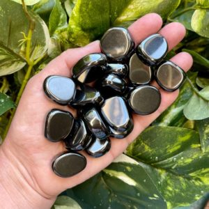 Shop Tumbled Hematite Crystals & Pocket Stones! Hematite Tumbled Stones, Worry Stones, Pocket Stones, Crystal Tumbles, Polished Rocks, Healing Crystals  (A188)   Natural genuine stones & crystals in various shapes & sizes. Buy raw cut, tumbled, or polished gemstones for making jewelry or crystal healing energy vibration raising reiki stones. #crystals #gemstones #crystalhealing #crystalsandgemstones #energyhealing #affiliate #ad