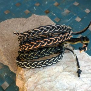 Shop Hemp Jewelry Making Supplies! Hemp Anklet or Bracelet Braided in black hemp with earthy center cord color choice hippie surfer boho beach hemp jewelry men women all ages   Shop jewelry making and beading supplies, tools & findings for DIY jewelry making and crafts. #jewelrymaking #diyjewelry #jewelrycrafts #jewelrysupplies #beading #affiliate #ad