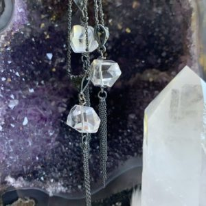 Shop Herkimer Diamond Necklaces! Herkimer Diamond Necklace | Natural genuine Herkimer Diamond necklaces. Buy crystal jewelry, handmade handcrafted artisan jewelry for women.  Unique handmade gift ideas. #jewelry #beadednecklaces #beadedjewelry #gift #shopping #handmadejewelry #fashion #style #product #necklaces #affiliate #ad