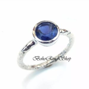 Shop Iolite Rings! Iolite Ring, Handmade Ring, Statement Ring, Gemstone Ring, 925 Silver Ring, Boho Ring, Dainty Ring, Natural Iolite Women Ring, Gift For Her | Natural genuine Iolite rings, simple unique handcrafted gemstone rings. #rings #jewelry #shopping #gift #handmade #fashion #style #affiliate #ad