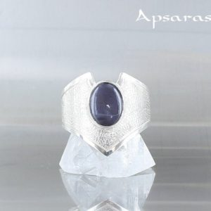 Shop Iolite Rings! Iolite ring, size 6, sterling silver 925, natural stone, cordierite, blue stone ring, one of a kind, handmade, quality made, | Natural genuine Iolite rings, simple unique handcrafted gemstone rings. #rings #jewelry #shopping #gift #handmade #fashion #style #affiliate #ad