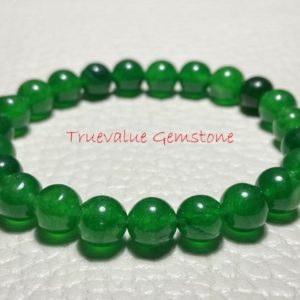 Shop Jade Bracelets! Green Jade Bracelet, Healing for Men & Women, Serenity, Practicality, Peace, Moderation, Perspective, Jade Bead, Gift for Men And Women 3276 | Natural genuine Jade bracelets. Buy handcrafted artisan men's jewelry, gifts for men.  Unique handmade mens fashion accessories. #jewelry #beadedbracelets #beadedjewelry #shopping #gift #handmadejewelry #bracelets #affiliate #ad