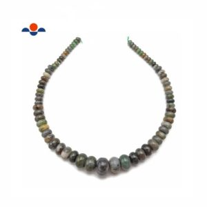 """Shop Jade Rondelle Beads! Natural Green Jade Graduated Smooth Rondelle Beads 6-16mm 15.5"""" Strand 
