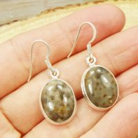 Genuine Palm Wood Jasper Earrings & Sterling Silver Earrings T1 The Silver Plaza | Natural genuine Gemstone jewelry. Buy crystal jewelry, handmade handcrafted artisan jewelry for women.  Unique handmade gift ideas. #jewelry #beadedjewelry #beadedjewelry #gift #shopping #handmadejewelry #fashion #style #product #jewelry #affiliate #ad