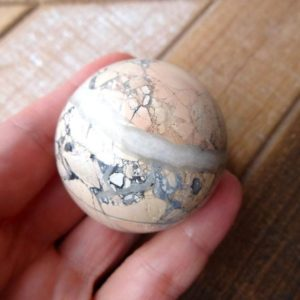 Shop Jasper Shapes! Maligano Jasper sphere 45mm | Natural genuine stones & crystals in various shapes & sizes. Buy raw cut, tumbled, or polished gemstones for making jewelry or crystal healing energy vibration raising reiki stones. #crystals #gemstones #crystalhealing #crystalsandgemstones #energyhealing #affiliate #ad