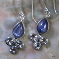 Kyanite, 925 Silver Healing Stone Earrings With Positive Healing Energy!   Natural genuine Gemstone jewelry. Buy crystal jewelry, handmade handcrafted artisan jewelry for women.  Unique handmade gift ideas. #jewelry #beadedjewelry #beadedjewelry #gift #shopping #handmadejewelry #fashion #style #product #jewelry #affiliate #ad