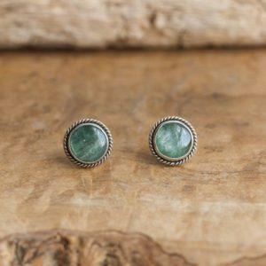 Shop Kyanite Earrings! Green Kyanite Traditional Posts – .925 Sterling Silver Studs – Kyanite Posts – Kyanite Studs | Natural genuine Kyanite earrings. Buy crystal jewelry, handmade handcrafted artisan jewelry for women.  Unique handmade gift ideas. #jewelry #beadedearrings #beadedjewelry #gift #shopping #handmadejewelry #fashion #style #product #earrings #affiliate #ad