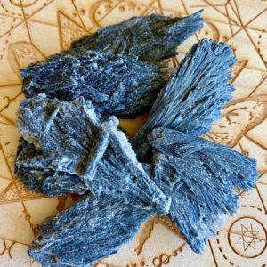 Shop Kyanite Points & Wands! Raw Black Kyanite Rare Medium Fan Blade Wand Brazil Grounding Clearing Protection | Natural genuine stones & crystals in various shapes & sizes. Buy raw cut, tumbled, or polished gemstones for making jewelry or crystal healing energy vibration raising reiki stones. #crystals #gemstones #crystalhealing #crystalsandgemstones #energyhealing #affiliate #ad
