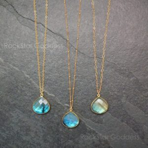 Shop Labradorite Necklaces! Labradorite Necklace / Gold Labradorite Necklace / Labradorite Jewelry  / Gemstone Necklace | Natural genuine Labradorite necklaces. Buy crystal jewelry, handmade handcrafted artisan jewelry for women.  Unique handmade gift ideas. #jewelry #beadednecklaces #beadedjewelry #gift #shopping #handmadejewelry #fashion #style #product #necklaces #affiliate #ad