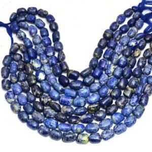 Shop Lapis Lazuli Chip & Nugget Beads! Lapis Lazuli 18mm-20mm Smooth Oval Nugget Beads | Natural Lapis Lazuli Semi Precious Gemstone Loose Fancy Beads For Jewelry | 13inch Strand | Natural genuine chip Lapis Lazuli beads for beading and jewelry making.  #jewelry #beads #beadedjewelry #diyjewelry #jewelrymaking #beadstore #beading #affiliate #ad