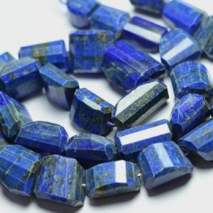 Shop Lapis Lazuli Chip & Nugget Beads! Natural Lapis Lazuli Nuggets Beads 12mm To 17mm Natural Shape Beads Faceted Gemstone Nugget Beads Genuine Lapis Beads – 8 Inch Strand No3797   Natural genuine chip Lapis Lazuli beads for beading and jewelry making.  #jewelry #beads #beadedjewelry #diyjewelry #jewelrymaking #beadstore #beading #affiliate #ad