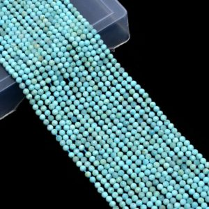 Shop Larimar Faceted Beads! Natural AAA+ Larimar 3mm-4mm Micro Faceted Beads | 13inch Strand | Dominican Larimar Semi Precious Gemstone Loose Round Beads for Jewelry | Natural genuine faceted Larimar beads for beading and jewelry making.  #jewelry #beads #beadedjewelry #diyjewelry #jewelrymaking #beadstore #beading #affiliate #ad