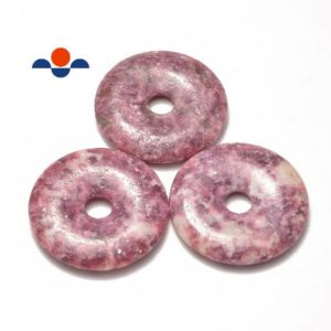 Shop Lepidolite Pendants! Lepidolite Donut Circle Pendant Size 40mm Sold Per Piece   Natural genuine Lepidolite pendants. Buy crystal jewelry, handmade handcrafted artisan jewelry for women.  Unique handmade gift ideas. #jewelry #beadedpendants #beadedjewelry #gift #shopping #handmadejewelry #fashion #style #product #pendants #affiliate #ad