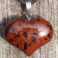 Mahogany Obsidian Puffy Heart Healing Stone Necklace With Positive Healing Energy!   Natural genuine Gemstone jewelry. Buy crystal jewelry, handmade handcrafted artisan jewelry for women.  Unique handmade gift ideas. #jewelry #beadedjewelry #beadedjewelry #gift #shopping #handmadejewelry #fashion #style #product #jewelry #affiliate #ad
