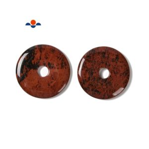 Natural Mahogany Obsidian Donut Circle Pendant Size 55mm 60mm Sold per Piece | Natural genuine Mahogany Obsidian pendants. Buy crystal jewelry, handmade handcrafted artisan jewelry for women.  Unique handmade gift ideas. #jewelry #beadedpendants #beadedjewelry #gift #shopping #handmadejewelry #fashion #style #product #pendants #affiliate #ad