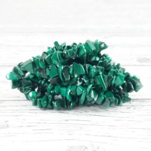 Shop Malachite Chip & Nugget Beads! Malachite Gemstone Beads, Crystal Chips Bag of 50 Pieces, Reiki Infused A Extra Grade Malachite Beads | Natural genuine chip Malachite beads for beading and jewelry making.  #jewelry #beads #beadedjewelry #diyjewelry #jewelrymaking #beadstore #beading #affiliate #ad