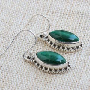 Shop Malachite Earrings! Malachite earrings, Sterling Silver Jewelry, Gift For Her, Natural Green Malachite healing Gemstone, handmade Drop Dangles, Stack Jewelry | Natural genuine Malachite earrings. Buy crystal jewelry, handmade handcrafted artisan jewelry for women.  Unique handmade gift ideas. #jewelry #beadedearrings #beadedjewelry #gift #shopping #handmadejewelry #fashion #style #product #earrings #affiliate #ad
