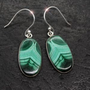 Shop Malachite Earrings! The Edge Of Green – Beautiful Genuine Malachite Sterling Silver Earrings | Natural genuine Malachite earrings. Buy crystal jewelry, handmade handcrafted artisan jewelry for women.  Unique handmade gift ideas. #jewelry #beadedearrings #beadedjewelry #gift #shopping #handmadejewelry #fashion #style #product #earrings #affiliate #ad