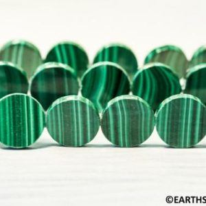 """Shop Malachite Bead Shapes! L/ Malachite 16mm Coin beads 16"""" Strand (24pc)  Natural Green gemstone beads for jewelry making   Natural genuine other-shape Malachite beads for beading and jewelry making.  #jewelry #beads #beadedjewelry #diyjewelry #jewelrymaking #beadstore #beading #affiliate #ad"""