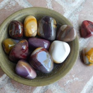 Shop Tumbled Mookaite Jasper Crystals & Pocket Stones! Mookaite Tumbled Stone | Natural genuine stones & crystals in various shapes & sizes. Buy raw cut, tumbled, or polished gemstones for making jewelry or crystal healing energy vibration raising reiki stones. #crystals #gemstones #crystalhealing #crystalsandgemstones #energyhealing #affiliate #ad