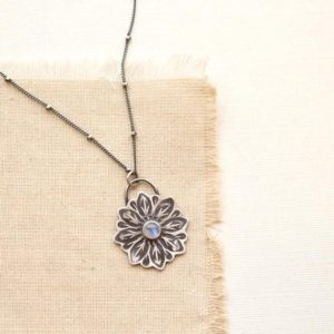 Shop Moonstone Necklaces! Large Moonstone Flower Necklace | Natural genuine Moonstone necklaces. Buy crystal jewelry, handmade handcrafted artisan jewelry for women.  Unique handmade gift ideas. #jewelry #beadednecklaces #beadedjewelry #gift #shopping #handmadejewelry #fashion #style #product #necklaces #affiliate #ad