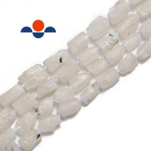 """Shop Moonstone Bead Shapes! White Moonstone Irregular Cylinder Tube Beads Approx 7x10mm 15.5"""" Strand 