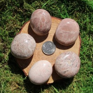 Shop Moonstone Shapes! Pink Moonstone Palm Stone #A-J | Natural genuine stones & crystals in various shapes & sizes. Buy raw cut, tumbled, or polished gemstones for making jewelry or crystal healing energy vibration raising reiki stones. #crystals #gemstones #crystalhealing #crystalsandgemstones #energyhealing #affiliate #ad
