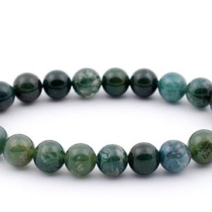 Shop Moss Agate Bracelets! AAA Grade moss agate bracelet, nature chakra gemstone agate bracelet, prosperity healing crystals money, yoga bracelet, meditation crystal | Natural genuine Moss Agate bracelets. Buy crystal jewelry, handmade handcrafted artisan jewelry for women.  Unique handmade gift ideas. #jewelry #beadedbracelets #beadedjewelry #gift #shopping #handmadejewelry #fashion #style #product #bracelets #affiliate #ad