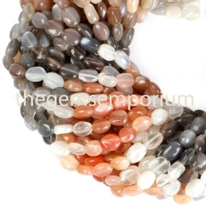 Multi Moonstone Plain Smooth Oval Beads, Moonstone Oval Beads, Multi Moonstone Smooth Beads, Multi Moonstone Beads, Moonstone | Natural genuine other-shape Gemstone beads for beading and jewelry making.  #jewelry #beads #beadedjewelry #diyjewelry #jewelrymaking #beadstore #beading #affiliate #ad
