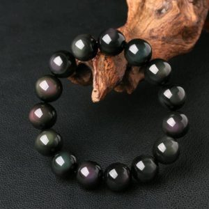 Rainbow Eye Obsidian Stone Bracelet-Fearless Anxiety Stress Relief Bracelet-Emotional Healing Mental Health Confidence Strength Bracelet | Natural genuine Obsidian bracelets. Buy crystal jewelry, handmade handcrafted artisan jewelry for women.  Unique handmade gift ideas. #jewelry #beadedbracelets #beadedjewelry #gift #shopping #handmadejewelry #fashion #style #product #bracelets #affiliate #ad