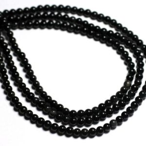 Shop Obsidian Bead Shapes! Wire 39cm 90pc env-stone beads-black Obsidian Rainbow balls 3-4mm   Natural genuine other-shape Obsidian beads for beading and jewelry making.  #jewelry #beads #beadedjewelry #diyjewelry #jewelrymaking #beadstore #beading #affiliate #ad