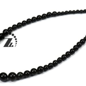 Shop Obsidian Round Beads! Black Obsidian,18 inch full strand natural Black Obsidian smooth graduated round beads,gemstone beads,6-12mm   Natural genuine round Obsidian beads for beading and jewelry making.  #jewelry #beads #beadedjewelry #diyjewelry #jewelrymaking #beadstore #beading #affiliate #ad