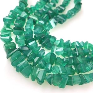 Shop Onyx Chip & Nugget Beads! 1/2 strand of green onyx chips | Natural genuine chip Onyx beads for beading and jewelry making.  #jewelry #beads #beadedjewelry #diyjewelry #jewelrymaking #beadstore #beading #affiliate #ad