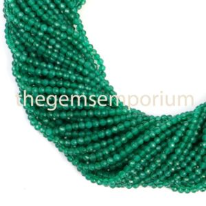 Shop Onyx Faceted Beads! Green Onyx Faceted Rondelle Beads, Green Onyx Faceted Beads, Green Onyx Rondelle Beads, Green Onyx Beads, Onyx Beads, Green Onyx | Natural genuine faceted Onyx beads for beading and jewelry making.  #jewelry #beads #beadedjewelry #diyjewelry #jewelrymaking #beadstore #beading #affiliate #ad