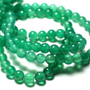 Shop Onyx Bead Shapes! 10pc – Stone Beads – Green Onyx 6mm 4558550030757 Balls | Natural genuine other-shape Onyx beads for beading and jewelry making.  #jewelry #beads #beadedjewelry #diyjewelry #jewelrymaking #beadstore #beading #affiliate #ad