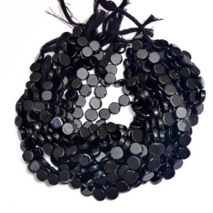 Shop Onyx Bead Shapes! Black Onyx Coin Beads | 9mm & 10mm Smooth Beads | 10inch Strand | Natural Onyx Semi Precious Gemstone Beads for Jewelry | Wholesale Price | | Natural genuine other-shape Onyx beads for beading and jewelry making.  #jewelry #beads #beadedjewelry #diyjewelry #jewelrymaking #beadstore #beading #affiliate #ad