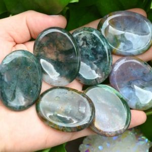 Shop Onyx Shapes! Natural Moss Onyx Worry Stone,Healing Worry Stone,Chakra Worry Stone,Size 35x45MM | Natural genuine stones & crystals in various shapes & sizes. Buy raw cut, tumbled, or polished gemstones for making jewelry or crystal healing energy vibration raising reiki stones. #crystals #gemstones #crystalhealing #crystalsandgemstones #energyhealing #affiliate #ad