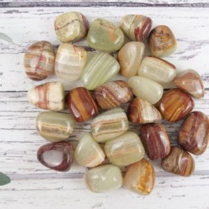 Shop Tumbled Onyx Crystals & Pocket Stones! Onyx Tumbled Stones, Reiki Infused Banded Onyx Wire Wrapping Self Care Healing Crystals   Natural genuine stones & crystals in various shapes & sizes. Buy raw cut, tumbled, or polished gemstones for making jewelry or crystal healing energy vibration raising reiki stones. #crystals #gemstones #crystalhealing #crystalsandgemstones #energyhealing #affiliate #ad