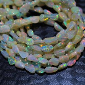 """Shop Opal Chip & Nugget Beads! Ethiopian Opal Tumble Beads,Natural Ethiopian Opal Smooth Tumble Beads,Multi Fire Ethiopian Opal Nugget Beads,Size 6mm to 12.5mm 17"""" Strand 