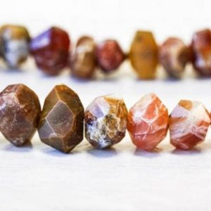 Shop Opal Chip & Nugget Beads! L/ Brandy Opal 15x10mm Faceted Nugget Beads 15.5 inches long, Natural Brown Orange Color Opal Faceted Nugget, For Crafts, Jewelry Designs | Natural genuine chip Opal beads for beading and jewelry making.  #jewelry #beads #beadedjewelry #diyjewelry #jewelrymaking #beadstore #beading #affiliate #ad